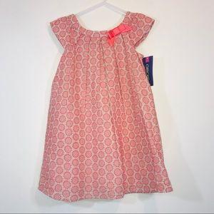 Cherokee Embroidered Polka Dot Pleated Dress